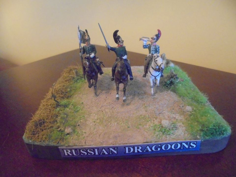 Zvezda ZVE6817 Figure Comm Group. Russian Dragoons  1:72 Scale