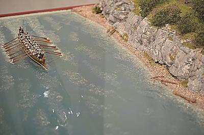 Römisches Boot auf dem Rhein oder der Donau 1/72