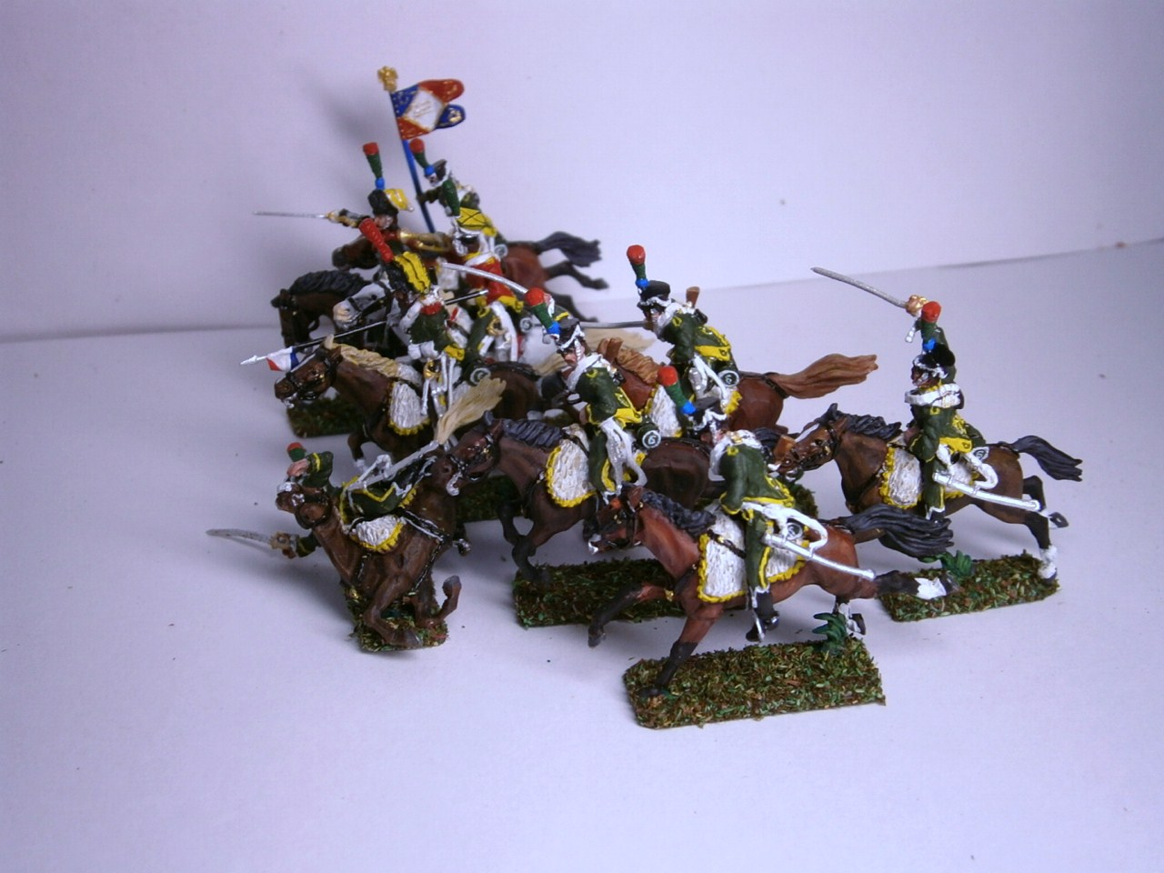 MC009 6ème  Chasseurs à cheval de la ligne 1807/1812 (9 cavaliers) au 1/72