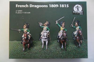 AP091 - WATERLOO - FRENCH DRAGOONS 1809 1815 - 1/32
