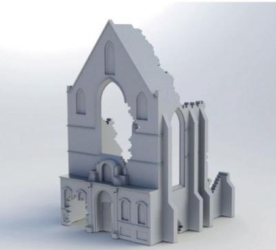 75006 - Belgium Ruin Church 1/76