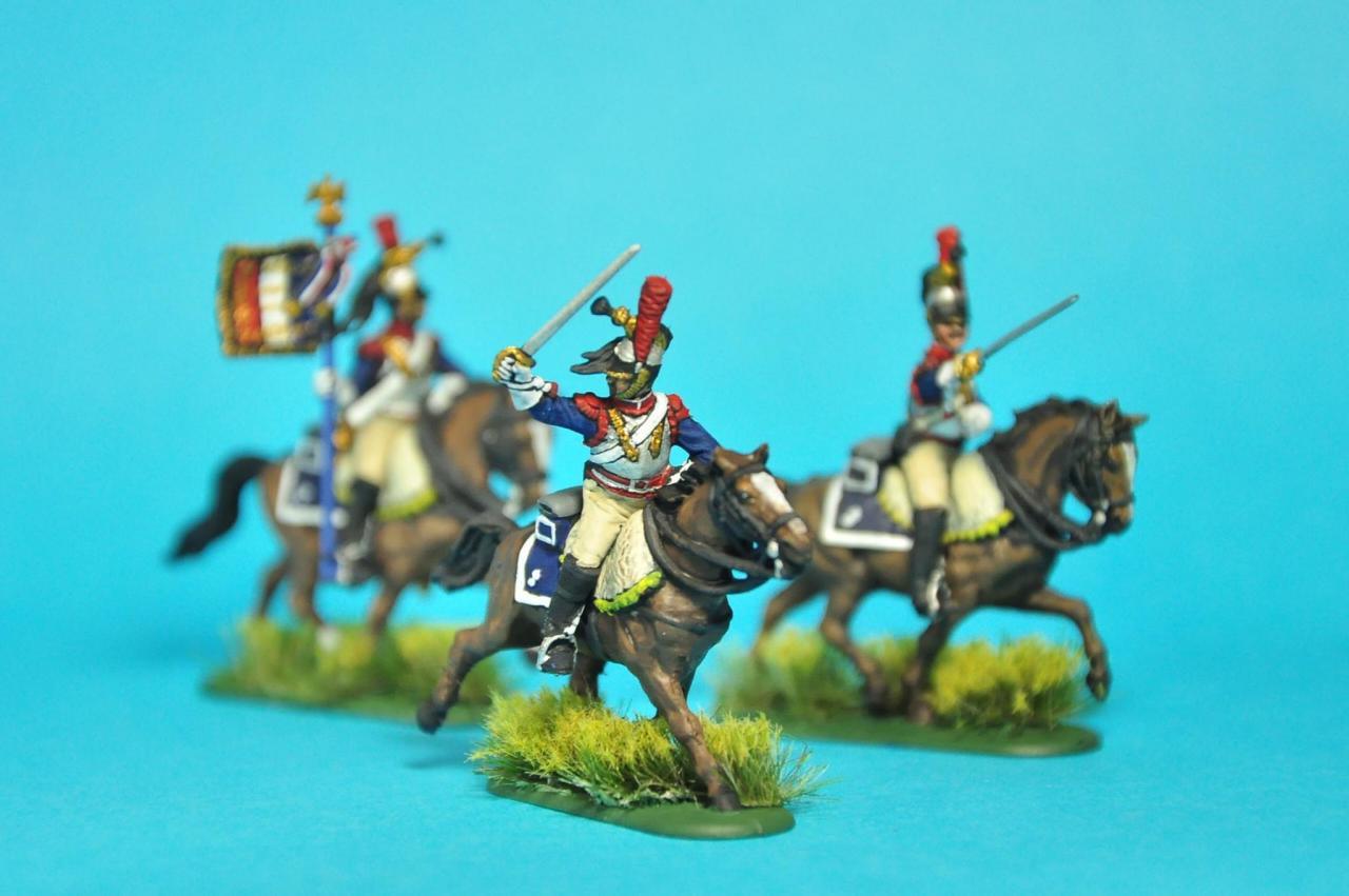 又完成一隻胸甲騎兵上色