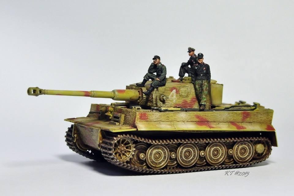 3 panzer crew  1/72 scale