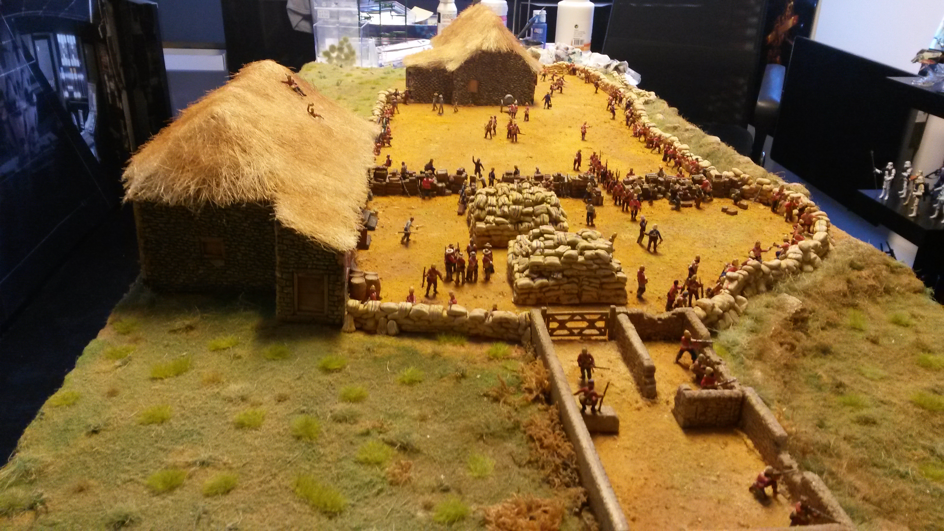 Rorke's drift avec Figurines au 1/72 (20mm)