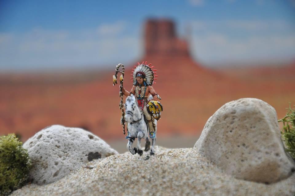 """Krieger """" Nadowe-is-Iweg """" (Sioux), auch """" Lakota """" und """" Dakota """" 1/72"""