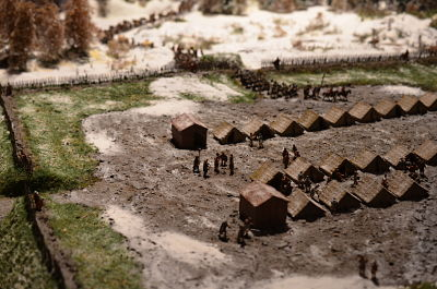 Roman Camp in Germania in winter at 1/72