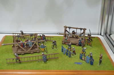 MIAR-72002 French knights with assault ladders XV century