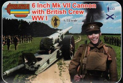 A001 - 6-Inch Mk VII Cannon with British Crew 1/72