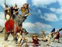 JS72/0011 - Eléphant de guerre carthaginois au combat 1/72