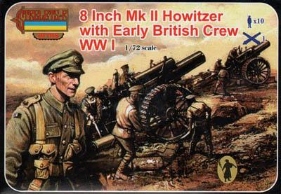 A003 - 8 Inch Mk II Howitzer with Early British Crew 1/72