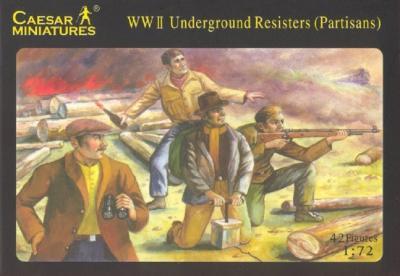 006 - WWII Underground Resisters (Partisans) 1/72
