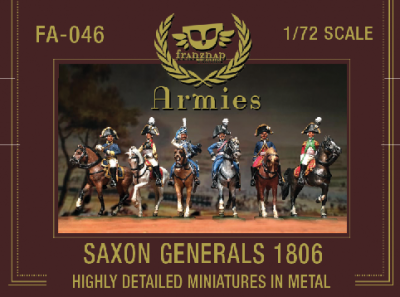 FA-046 Saxon Generals 1806 : set of 6 mounted figures.