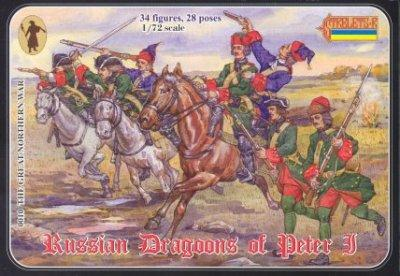 010 - Russian Dragoons of Peter I 1/72