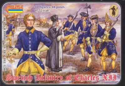 021 - Swedish Infantry of Charles XII 1/72