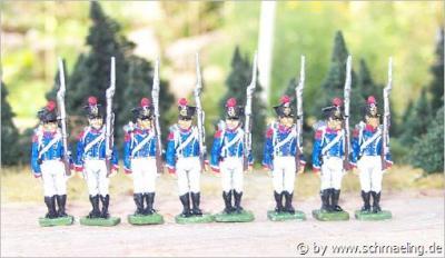 JS72/0290 - Jeune garde française Tirailleurs fusil à l'épaule 1/72