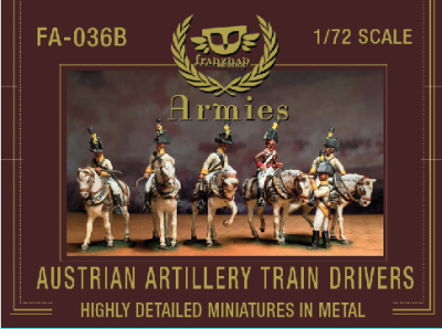 FA-036B Austrian Artillery Train Drivers 1/72