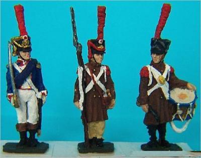 JS72/0343 - Grenadiers français de la ligne Commandement 1/72