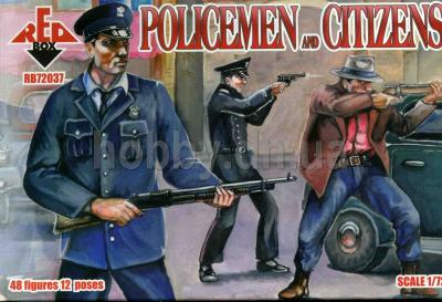 72037 - Policemen and Citizens 1/72