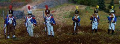 JS72/0370 - Grenadiers et voltigeurs français en tenue de campagne 1/72