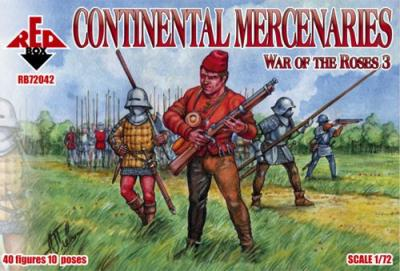 72042 - Wars of the Roses Continental Mercenaries 1/72