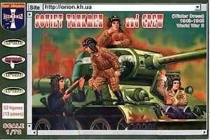 72042 - Soviet Tankmen and Crew (Winter Dress) 1/72