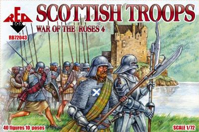 72043 - Wars of the Roses Scottish Troops 1/72