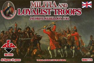 72051 - Militia and Loyalist Troops 1/72