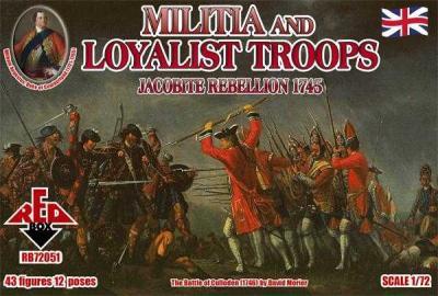 72051 - Militia and Loyalist Troops 1/72