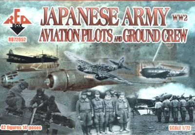 72052 - WW2 Japanese Army Aviation Pilots and Ground Crew 1/72