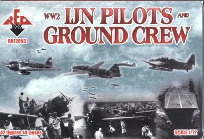 72053 - WW2 IJN Pilots and Ground Crew 1/72
