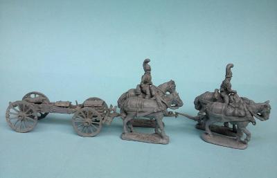 JS72-0799 Russian Guard Artillery (Set I) 1805/07 1/72