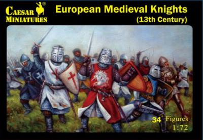 087 - Medieval European Knights 13th Century 1/72