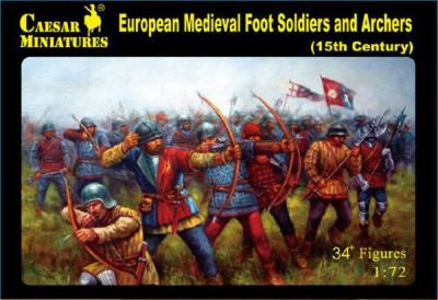 088 - European Medieval Foot Soldiers and Archers 1/72