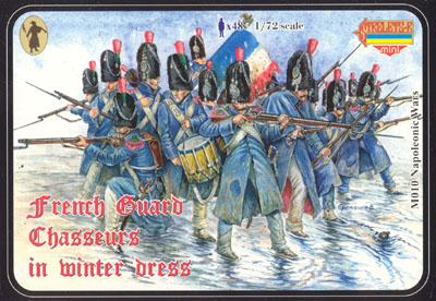 M010 - French Guard Chasseurs in Winter Dress 1/72