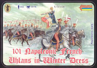 101 - Napoleonic French Uhlans in Winter Dress 1/72