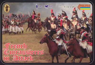 105 - French Cuirassiers in Attack 1/72