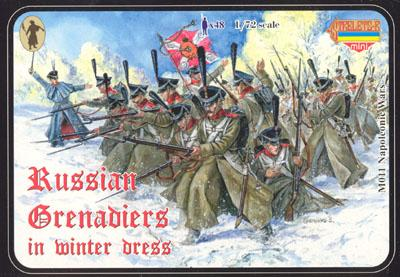 M011 - Russian Grenadiers in Winter Dress 1/72