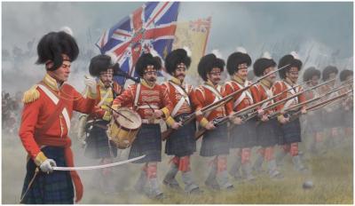146 - Highlanders in attack 1/72