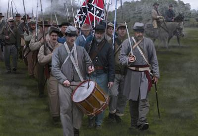 147 - Confederate Troops on the March 1/72