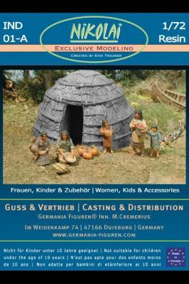 NIK-IND 01 - Waldindianer Frauen und Kinder 1/72