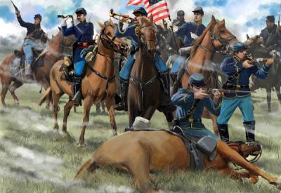 151 - US Cavalry Skirmishing 1/72