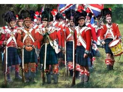 163 - Napoleonic Highlanders Standing at Ease 1/72
