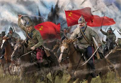 164 - Red Cavalry in Summer Dress Russian Civil War 1/72