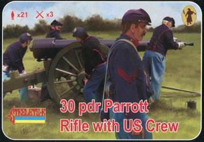 182 - 30 pdr Parrott Rifle with US crew (ACW/American Civil War) 1/72