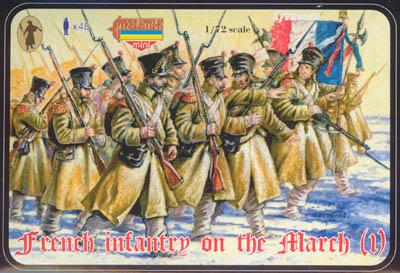 M023 - French Infantry on the March (1) 1/72