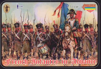 M026 - Napoleonic French Infantry in Advance 1/72