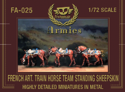 FA-025 - French Artillery Train Horseteam Standin Sheepskin 1/72