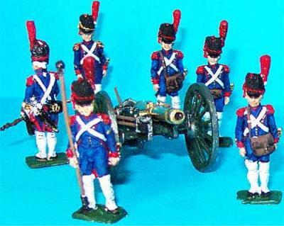 JS72/0236 - Artillerie à pied de la Garde canon de 8 (Gribeauval) 1/72