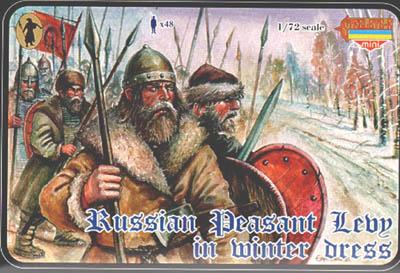 M027 - Medieval Russian Peasant Levy in Winter Dress 1/72
