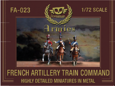 FA-023 - French Artillery Train Command 1/72